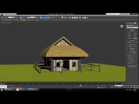 01) Cryengine 3 Tutorial - Beginner 3ds Max Models, Textures, and Vegetation