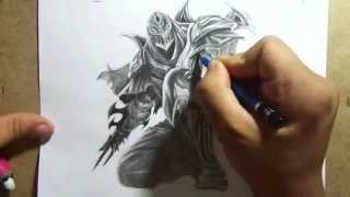 getlinkyoutube.com-Pencil Drawing - Zed