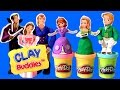 Play Doh Clay Buddies Sofia the First Royal Family Activity Book Princess Amber & Prince James