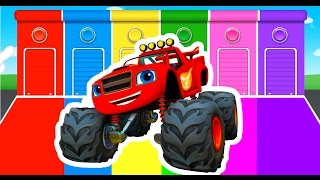 getlinkyoutube.com-Learning Colors with Monster Truck Color Vehicles for Kids Toddlers - Learn Colours for Children