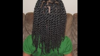 getlinkyoutube.com-Hair Twists/Rope Twists on Natural Hair (Without Hair Bands)