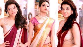 Kajal Agarwal - Hot show in low-hip saree from Advt