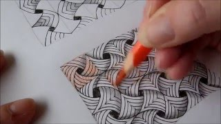 getlinkyoutube.com-How to draw tanglepattern Flip Flap