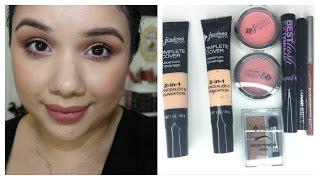 getlinkyoutube.com-Jordana Cosmetics Review and Demo | Foundation, Brows, Blush, Lips, Mascara + More