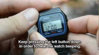 getlinkyoutube.com-Demo and Disassembly of the Casio F-91w and a fake white version