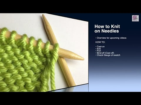 How to Knit - Purl Stitch Beginner (with closed captions)