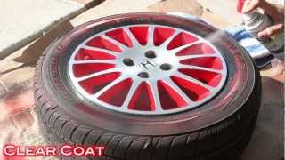 getlinkyoutube.com-Easy Way To Customize Wheels with Spray Paint - 2 Tone Finish on Civic Stock Wheels