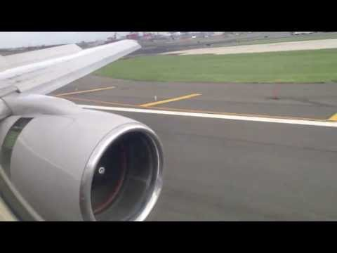 HD - United Airlines Boeing 757-200 First Class Landing NYC IAH - EWR Runway 29