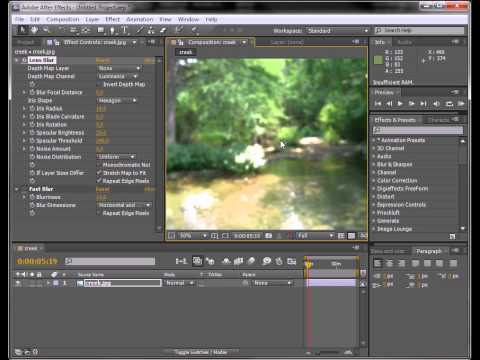 mia lens bokeh Mental Ray MAYA Tutorial