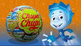 getlinkyoutube.com-Фиксики от Чупа-чупс. Открываем шоколадные шары Chupa-Chups. Fixiki. Unboxing Chocolate Eggs