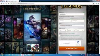 getlinkyoutube.com-League of Legends - How to sign up ! Link in description!