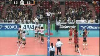 Vプレミア JT vs NEC  第5セット