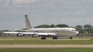 USAF E-8C JSTARS Departing Mildenhall 13-07-2016