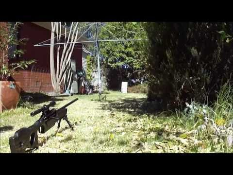 Homemade Air Rifle Accuracy International L96A1 Overview and Test Fire
