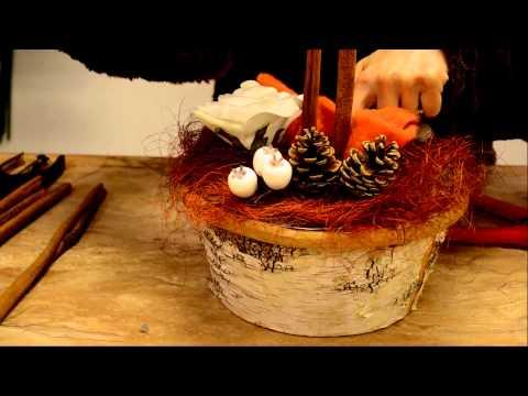 Addobbi natalizi: tutorial per centrotavola natalizio fai da te by La Bottega del Fiore