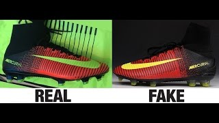 getlinkyoutube.com-How To Spot Fake Nike Mercurial Superfly V 5 Football Boots Authentic vs Replica Comparison