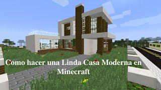 getlinkyoutube.com-Como Decorar el Exterior de una Linda Casa Moderna en Minecraft