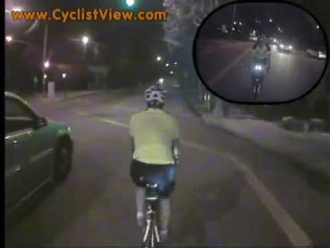 Bicycling at Night in Long Beach, California