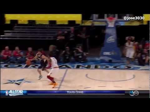 Ricky Rubio Between The Leg Dribble & Alley-Oop To Blake Griffin - 2012 NBA Rising Stars Challenge
