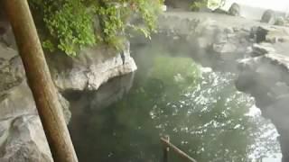 getlinkyoutube.com-Japanese hot outdoor Spa Bath Rotenburo Japan Destination Management