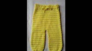getlinkyoutube.com-How to crochet a trousers for babies by BerlinCrochet