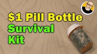 getlinkyoutube.com-$1 Pill Bottle Survival Kit!