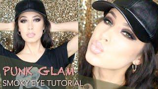 getlinkyoutube.com-Gwen Stefani Eyeshadow Palette Smokey Punk Tutorial (FULL FACE) | Lady Code | Lisa Opie