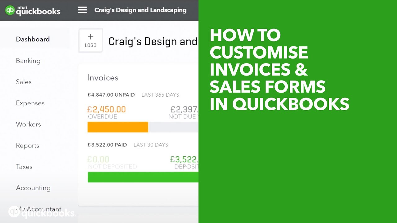 How to customise invoices and sales forms