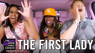 First Lady Michelle Obama on Carpool Karaoke