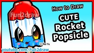 getlinkyoutube.com-How to Draw Easy Things - Rocket Popsicle - Summer Treats & Food Fun2draw drawing channel