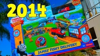 getlinkyoutube.com-JAMES' FISHY DELIVERY - NEW 2014 Thomas The Tank Engine Wooden Railway Toy Train Review By Mattel