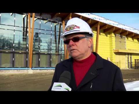 Visite du chantier du centre multisportif des loisirs à Beaupré