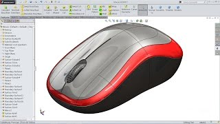getlinkyoutube.com-Solidworks tutorial | sketch mouse in Solidworks (Advanced Surfacing)