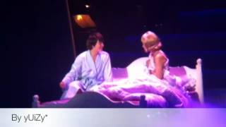 getlinkyoutube.com-[FanCam] 120412 Kyuhyun in Catch me if you can - Bed scene with DANA not SUNNY, OK?