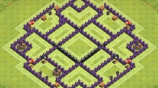 getlinkyoutube.com-Clash of Clans - TH8 Farming Base - Speedbuild