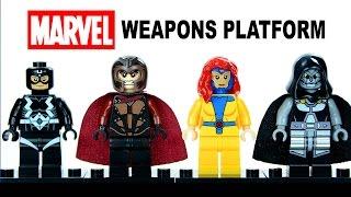 LEGO Marvel Superheroes Weapons Platform Set 1 w/ Magneto Black Bolt Jean Grey & Dr. Doom