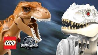 getlinkyoutube.com-LEGO Jurassic World - T-Rex vs Indominus Rex