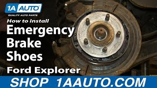 getlinkyoutube.com-How To Install Replace Emergency Brake Shoes 2002-05 Ford Explorer Mercury Mountaineer