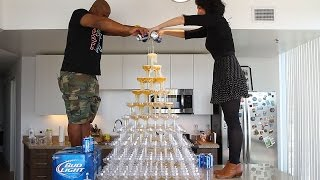 getlinkyoutube.com-Beer Tower - Tipsy Bartender