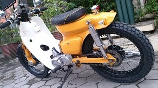 getlinkyoutube.com-Motor Trend Modifikasi | Video Modifikasi Motor Honda C70 Si Pitung Street Cub Terbaru