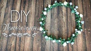 getlinkyoutube.com-DIY: Flower Crown For Spring ✿