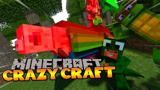 getlinkyoutube.com-Minecraft - CRAZYCRAFT 3 - LITTLE LIZARD AND HIS NYAN PIG! #3