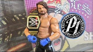 getlinkyoutube.com-WWE ACTION INSIDER: AJ STYLES Mattel Series 68 Wrestling Figure Review!