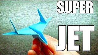 getlinkyoutube.com-Como hacer un SUPER JET con TURBOS | Aviones de papel paso a paso (Muy facil)