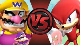 WARIO vs KNUCKLES! REMATCH! Cartoon Fight Club Episode 100 SEASON FINALE!