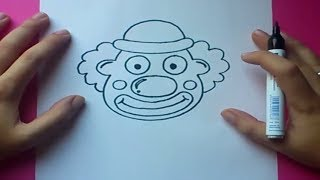 getlinkyoutube.com-Como dibujar un payaso paso a paso | How to draw a clown