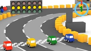 getlinkyoutube.com-Cartoni animati per bambini: Macchinine colorate e la gara dei go kart