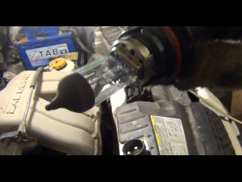 Замена лампы ближнего/дальнего света цоколь НВ5 (9007) на Dodge - Caravan