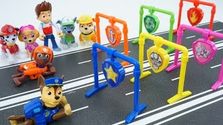 PAW PATROL TOYS PULL BACK PUP RACERS ADVENTURE BAY SPEEDWAY PUPS MARSHALL CHASES SKYE RACE TRACK