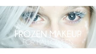 getlinkyoutube.com-Frozen Makeup tutorial I Ice Queen look for halloween 2015